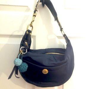 COACH Sateen Mini Hobo Shoulder Bag